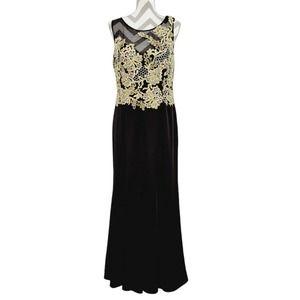 Camille La Vie Illusion Neck Long Bridesmaid Dress